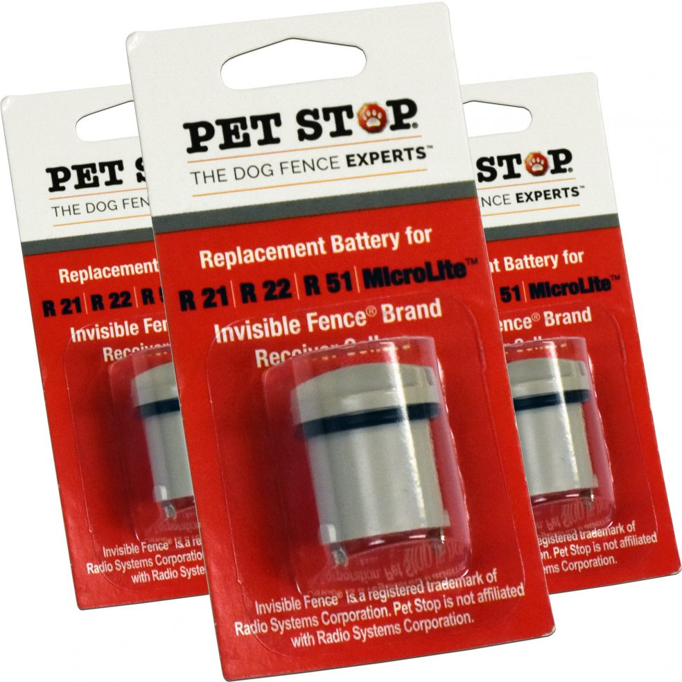 invisible fence brand replacement battery three pack